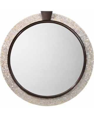 Jamie Young Thea Mother Of Pearl 36 Round Wall Mirror