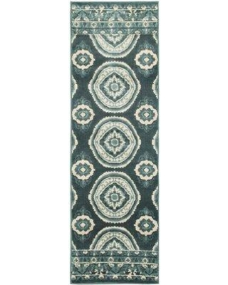 World Menagerie Brinton Blue Area Rug W000074838 Rug Size: Rectangle 4' x 6'