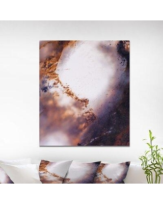 """East Urban Home Stone 'Moss Agate Abstract' Graphic Art Print on Wrapped Canvas ETUC0019 Size: 40"""" H x 30"""" W x 1.5"""" D"""