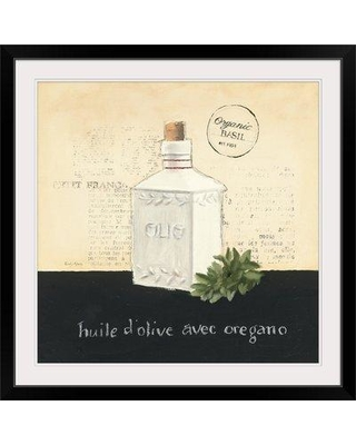 """Great Big Canvas 'Huile d Olive II' by Emily Adams Vintage Advertisement 1395575_1 Size: 32"""" H x 32"""" W x 1"""" D Format: Black Framed"""