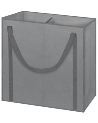 Arm & Hammer™ 2-Compartment Laundry Hamper in Grey