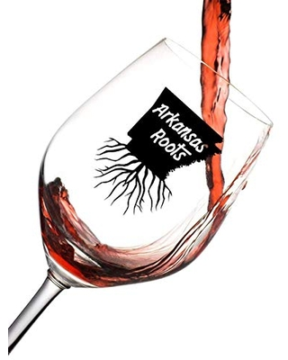 Arkansas State Roots Wine Glass