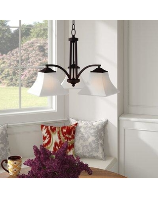 Charlton Home Weedman 3-Light Shaded Chandelier W000716348 Finish: Oil rubbed bronze