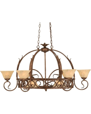 Filament Design Concord Series 8-Light Bronze Chandelier with Italian Marble Glass Shade