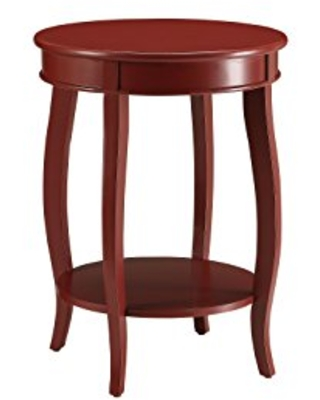 ACME Furniture Acme 82787 Aberta Side Table, Red, One Size