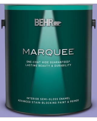 BEHR MARQUEE 1 gal. #630B-5 Majestic Violet Semi-Gloss Enamel Interior Paint and Primer in One