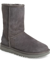 Women's Ugg 'Classic Ii' Genuine Shearling Lined Short Boot, Size 10 M - Grey