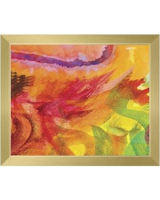 """Click Wall Art 'Lumaca' Framed Painting Print ABS0012725FR Size: 18.5"""" H x 22.5"""" W x 1"""" D Frame Color: Gold"""