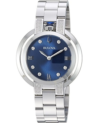 Bulova Women's 'RUBAIYAT' Quartz Stainless Steel Casual Watch, Color:Silver-Toned (Model: 96R225)