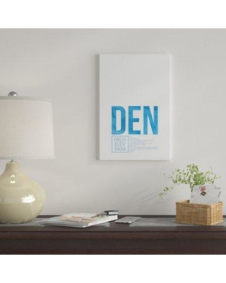 """East Urban Home 'DEN Air Traffic Control Denver' By 08 Left Graphic Art Print on Canvas EUME2209 Size: 26"""" H x 18"""" W x 1.5"""" D"""
