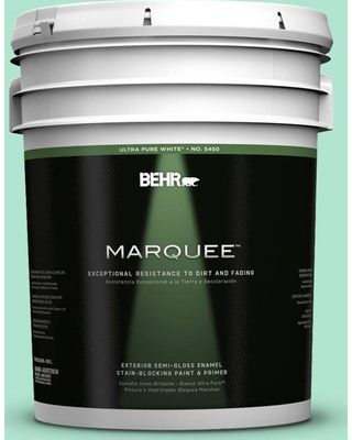 BEHR MARQUEE 5 gal. #P420-2 Crystal Rapids Semi-Gloss Enamel Exterior Paint and Primer in One