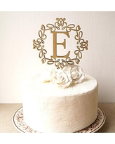 monogram cake topper wedding cake topper rustic cake topper wooden monogram topper