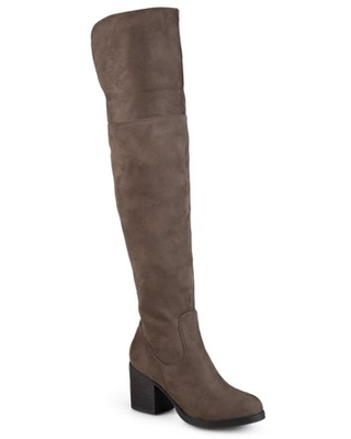 Women's Round Toe Faux Suede Tall Boots