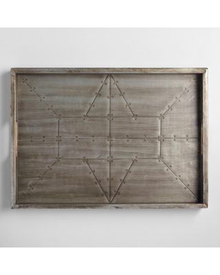 Industrial Wood And Metal Serving Tray: Gray/Metallic by World Market
