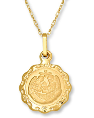 Kay Children's Baptism Medal Necklace 14K Yellow Gold