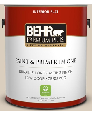 BEHR Premium Plus 1 gal. #bwc-25 Sandy Clay Flat Low Odor Interior Paint and Primer in One