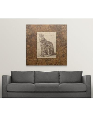 "Great Big Canvas 'Panther' Graphic Art Print 1052187_1 Size: 48"" H x 48"" W x 1.5"" D Format: Canvas"