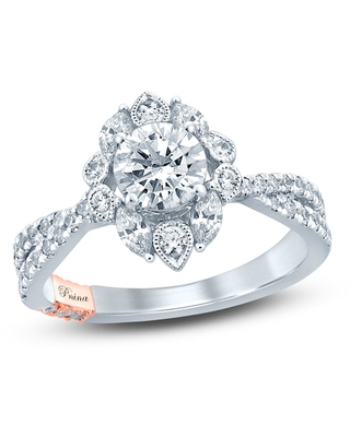Jared The Galleria Of Jewelry Pnina Tornai Fireworks of Love Diamond Engagement Ring 1-5/8 ct tw Marquise/Round 14K Two-Tone Gold