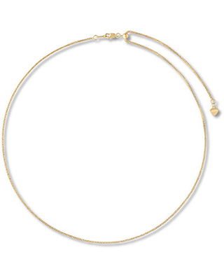 """Jared The Galleria Of Jewelry Wheat Chain Necklace 14K Yellow Gold Adjustable 20"""""""