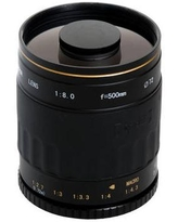 Opteka 500mm f/8 HD Telephoto Mirror Lens for T Mount OPT500M