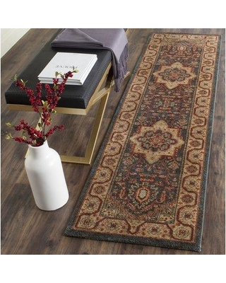 """Astoria Grand Pennypacker Navy/Natural Area Rug W000481303 Rug Size: Runner 2'2"""" x 8'"""