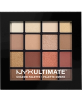 Nyx Professional Makeup Ultimate Eyeshadow Palette - Warm Neutrals - 0.46oz