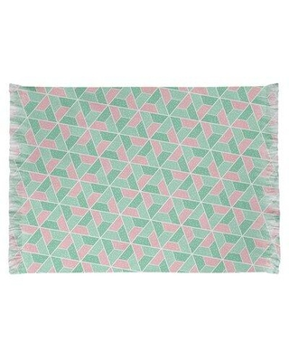 East Urban Home Mcguigan Trapezoids Green/Pink Area Rug W001914495 Non-Skid Pad Included: No