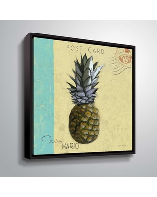 """'Pineapple' Graphic Art Print Bay Isle Home Format: Black Framed, Size: 24"""" H x 24"""" W x 2"""" D"""