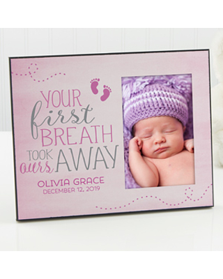 Personalized Baby Picture Frame - You Took Our Breath Away