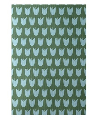 Simply daisy 3' x 5' tulips floral print indoor rug