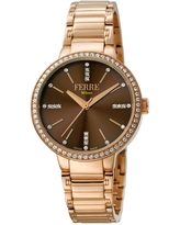 FERRE MILANO Women's Stainless Steel Watch, 34mm in Rose Gold at Nordstrom Rack