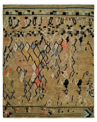Bloomsbury Market Bueche Hand Knotted Wool Gold Area Rug BLMK7036 Rug Size: Rectangle 3' x 5'