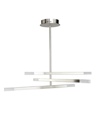 Artcraft Lighting SC13096SN Contemporary Modern Six Light Chandelier from Twig Collection in Pewter, Nickel, Silver Finish, 31.00 inches