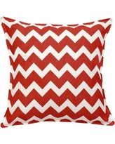 Greendale Home Fashions Chevron Cotton Canvas Throw Pillow TP5213- Color: Red