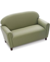 "The Children's Furniture Co. kids Komfort Preschool Sofa, Foam/Polyurethane in Green/Sage, Size 18"" L x 38"" W x 24"" H 