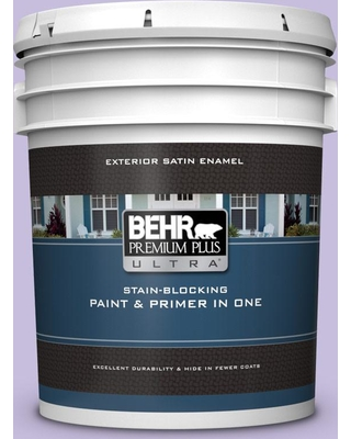 BEHR ULTRA 5 gal. #640B-4 Innuendo Satin Enamel Exterior Paint and Primer in One