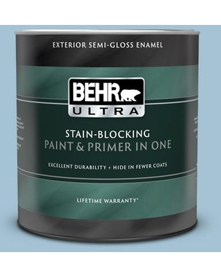 BEHR ULTRA 1 qt. #550E-3 Viking Semi-Gloss Enamel Exterior Paint and Primer in One