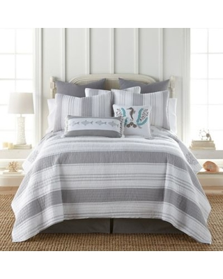 Levtex Home Freeport Reversible King Quilt in Grey