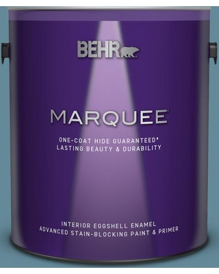 BEHR MARQUEE 1 gal. #BIC-22 Relaxed Blue Eggshell Enamel Interior Paint & Primer