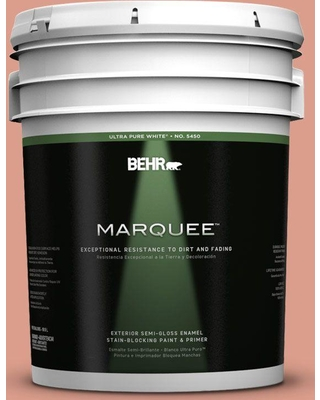 BEHR MARQUEE 5 gal. #210D-4 Medium Terracotta Semi-Gloss Enamel Exterior Paint and Primer in One