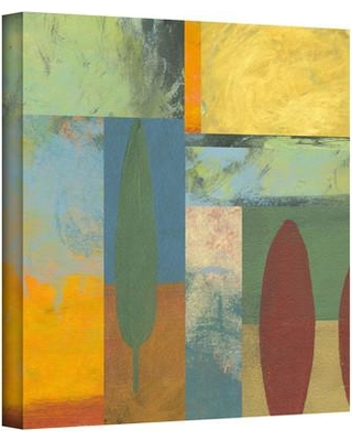 """ArtWall 'Tuscany Square II' by Jan Weiss Painting Print on Wrapped Canvas janw-025- Size: 24"""" H x 24"""" W"""