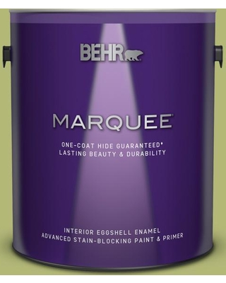 BEHR MARQUEE 1 gal. #410D-4 Asparagus Eggshell Enamel Interior Paint and Primer in One