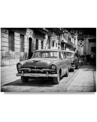 "Trademark Art 'Street Scene with old Cars II' Photographic Print on Wrapped Canvas PH00799-C Size: 16"" H x 24"" W"
