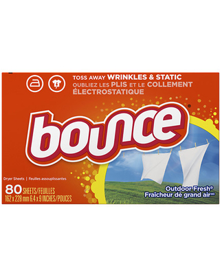 Bounce Fabric Softener Dryer Sheets Outdoor Fresh - 80.0 ea