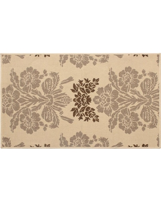 Laura Ashley Tatton Taupe 8 ft. x 5 ft. Indoor/Outdoor Area Rug, Brown