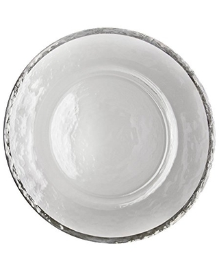"""10 Strawberry Street Alpine 13"""" Charger Plate, Set of 4, Silver"""