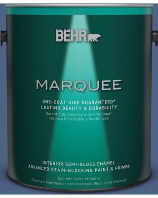 BEHR MARQUEE 1 gal. #PPU15-04 Mosaic Blue One-Coat Hide Semi-Gloss Enamel Interior Paint and Primer in One