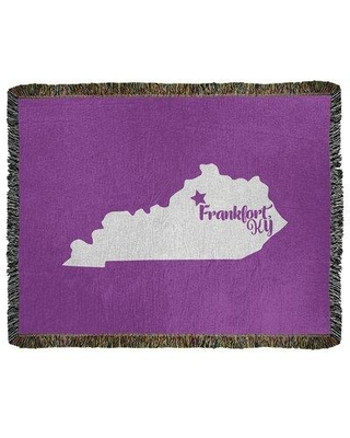 Sales On East Urban Home Frankfort Kentucky Woven Cotton Throw Cotton In Violet Size 60 W X 80 L Wayfair 24cceb8b2b6f4a9d8329924f53986df6