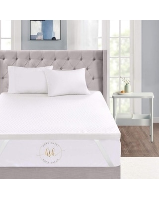 """3"""" Inch Memory Foam Mattress Topper With Removable Bamboo Cover (Full - 3 Inch)"""
