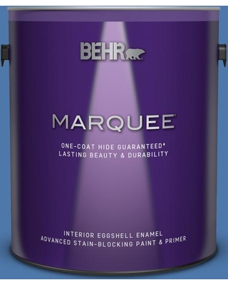 BEHR MARQUEE 1 gal. Home Decorators Collection #HDC-FL13-6 Baltic Blue Eggshell Enamel Interior Paint and Primer